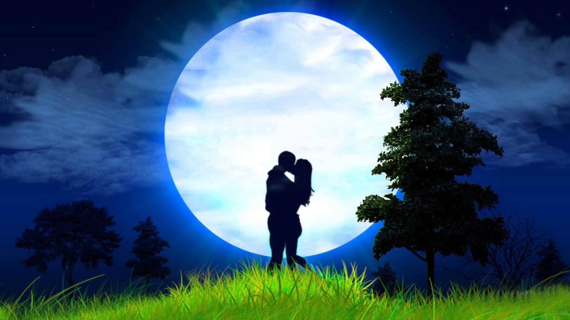 Луна любовь картинка